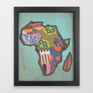 Pastel African Kente Cloth Mixed Media Artwork